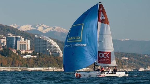 J/70 sailing off Sochi, Russia